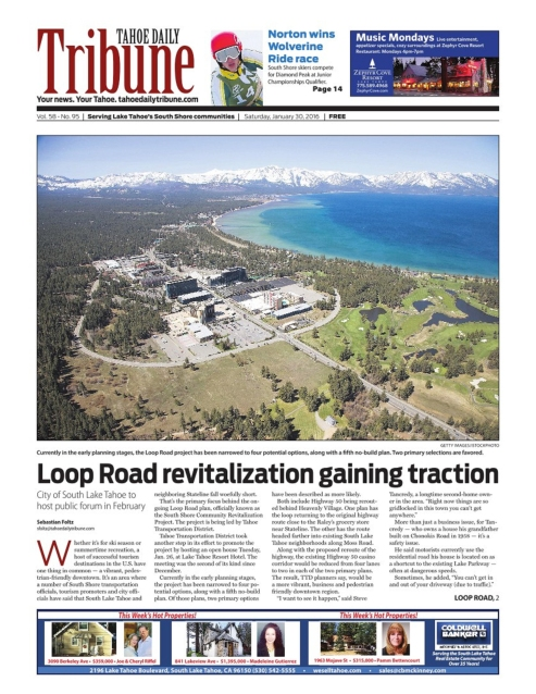 South Lake Tahoe proposed urban revitalization plans, Tahoe Daily Tribune. http://bit.ly/2xqrUvt