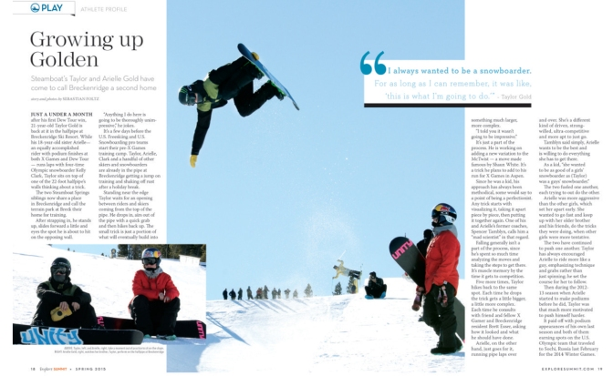 Explore Summit: Olympic snowboarders  feature
