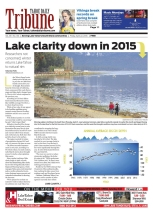 Lake Tahoe environmental cover story on lake clarity, Tahoe Daily Tribune. http://bit.ly/2hpPyo5
