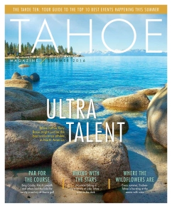 Foltz's work with Tahoe Magazine included feature stories on mountain biking, skiing and an interview with U.S. Olympic gold medal snowboarder Jaime Anderson.